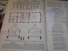 1896 Baugewerkszeitung 40 / Gaswerk Altona Bahrenfeld