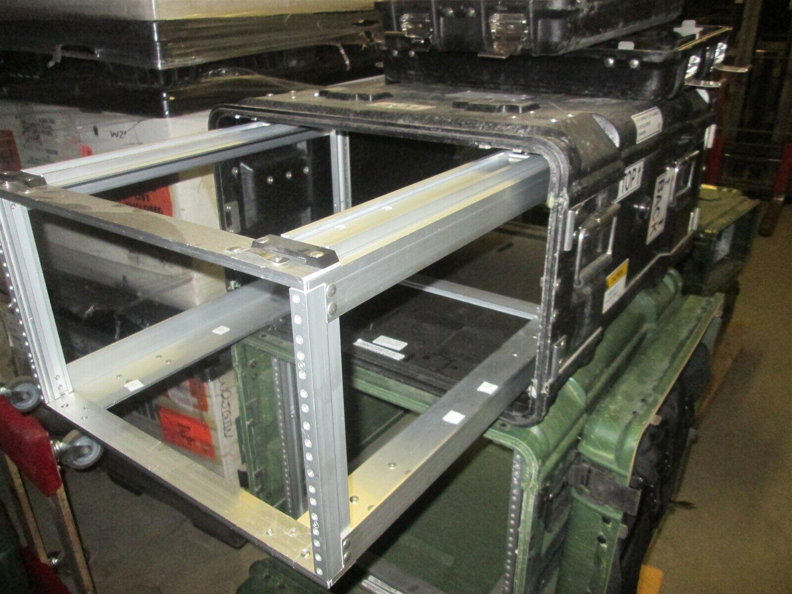 Rackmount 06U x24 Slide Out General Dynamics Composite Shock Mount Rack Case Blk