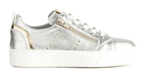NERO GIARDINI TEEN P930930F scarpe donna sneakers pelle zeppa stringhe casual