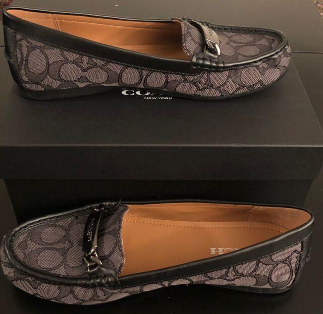 d68e8423f2d New COACH Women s Shoes 9.5M OLIVE OUTLINE SIG C JACQRD BLACK-SMOKE With Box