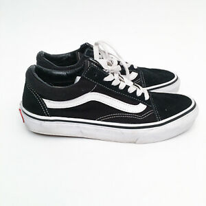 VANS-Old-Skool-Sneakers-Classic-Black-White-Mens-US-5-US-6-5-Wms-Suede-Leather