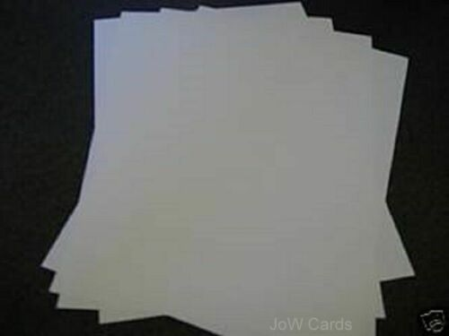 142x290mm 120 gsm Free p/&p UK White Paper Inserts suitable for 6x6 card blanks