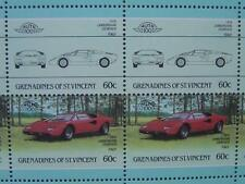 1974 LAMBORGHINI COUNTACH LP400 Car 50-Stamp Sheet Auto 100 Leaders of the World