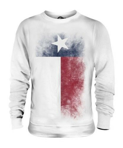 TEXAS STATE FADED FLAG UNISEX SWEATER TOP TEXAN SHIRT JERSEY GIFT
