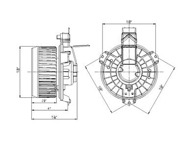 HVAC Blower Motor Front TYC 700235