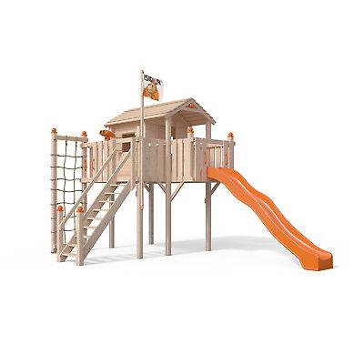 Terrizio XL-Spielturm von ISIDOR mit Treppe Schaukel Rutsche Klettern auf 1,50 m