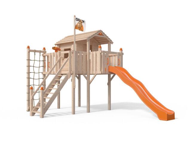 Fatmoose Klettergerüst Clever Climber : Colino spielturm stelzenhaus baumhaus rutsche schaukel gartenhaus 1