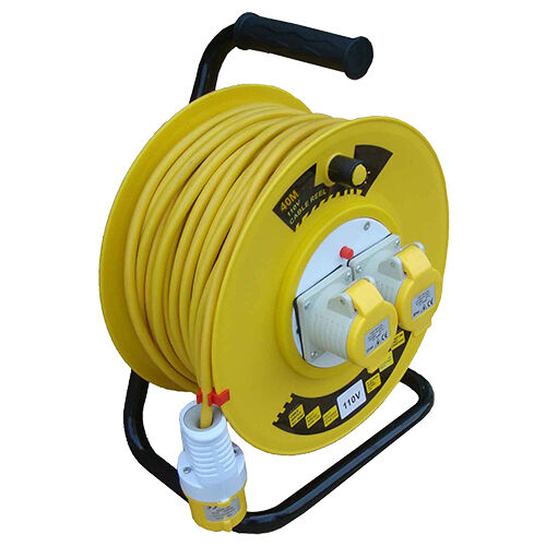 Heavy Duty 110V 16A Extension Reel 40m x 2.5mm Cable