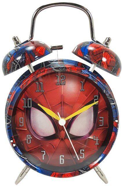 New Marvel Twin Bell Alarm Clock - Spiderman