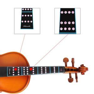 Violin Fingerboard Sticker Fretboard Note Label Finge Chart Practice Finger Guide Beginner Violin Parts Accessories Hot Sale Special Buy Sports & Entertainment Musical Instruments