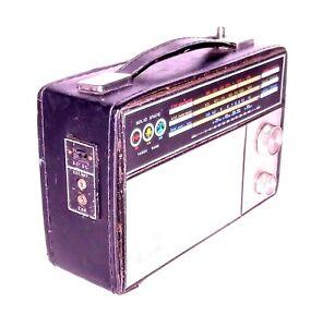Realtone 2314-2 Vintage Radio FM AM SW Short Wave Leather Case Tested & Works