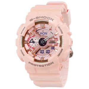 卡西歐 G-Shock 數字表盤粉色樹脂女士手表 gmas 110mp-4a1