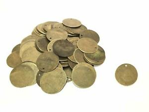 200-Antique-Metal-Bronze-Round-Circle-Stamping-Blank-and-Crafting-Tags-Supplies
