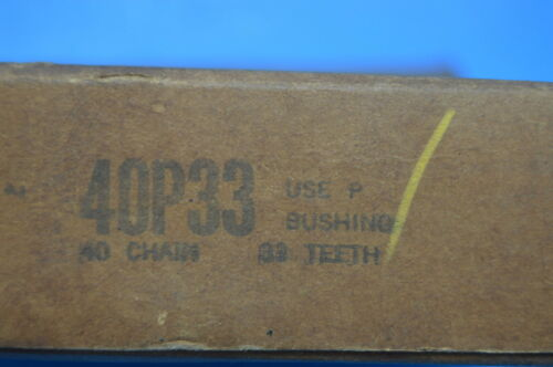 NEW OLD STOCK 33 TEETH NEW IN BOX NEW BROWNING 40P33 SPROCKET