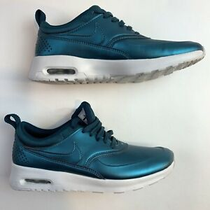 Details about Nike Air Max Thea SE Metallic Teal Blue Green Womens Size 6.5 Running Shoes