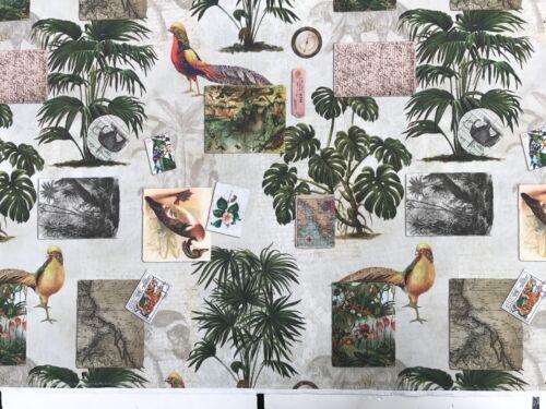 Deco patchwork sustancias algodón lonetta 280cm ancha Gardine cortina Safari