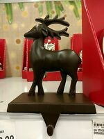 A Set Of 2 Metal Deer Stocking Holders And Free Priority Shipping