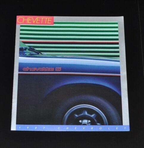 Chevrolet Chevette S 1987 Auto Prospekt aus USA