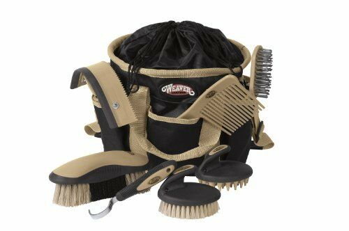 Horses Grooming Pet Supplies Hoof Care Brush Bathing Equestrian 7 Piece Bag Set