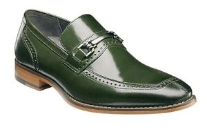 STACY ADAMS Mens Lindford Moc Toe Bit Slip-on Penny Loafer