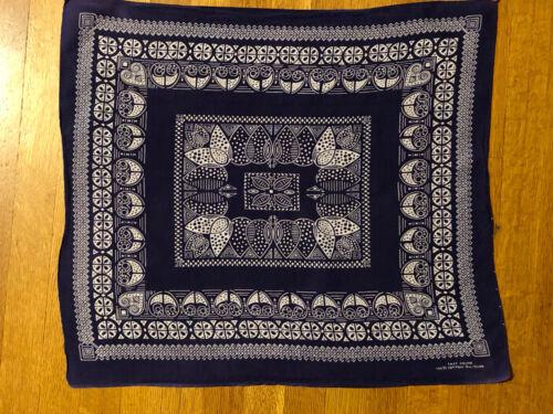 Vintage Bandana Handkerchief 100% Cotton Fast Colo