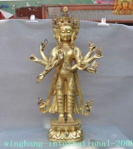 Antiques Impartial Bronze 24k Gold Gilt 4 Head 8 Arms Namgyalma&ushnishavijaya Tara Buddha Statue Asian Antiques