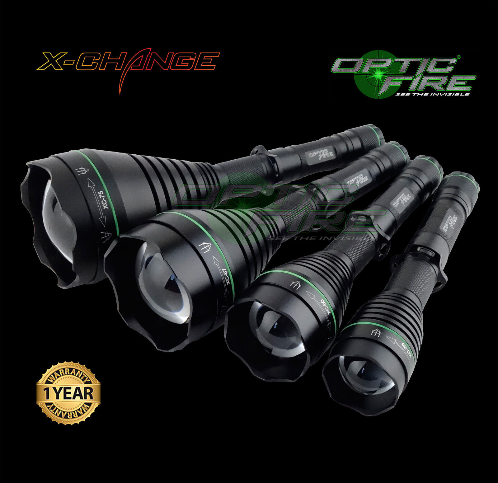 Opticfire® XC 3 LED Deluxe high power hunting torch lamping lamping lamping lamp gun light kit 776428