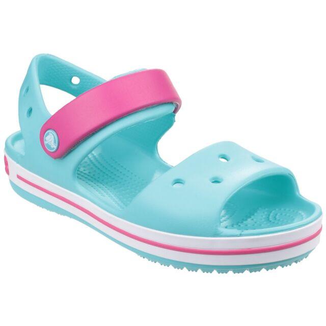 2629c0adcf48 Crocs Crocband Velcro Sandals Unisex Kids Childrens Summer Open Toe ...