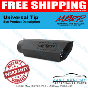 MBRP Universal Tip 8in O.D Rolled End 4in Inlet 18in Length Black T5128BLK