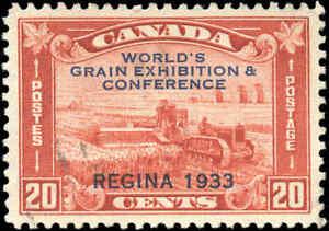 Used-Canada-1933-20c-VF-Scott-203-Grain-Exhibition-Issue-Stamp