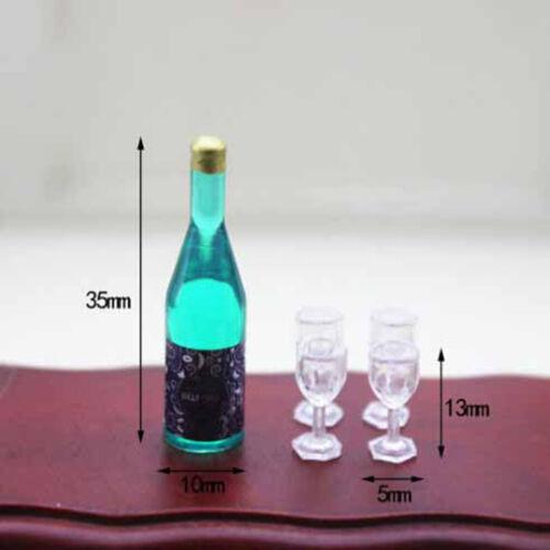 1:12 Dollhouse miniature accessories mini bottle 4 cupPF