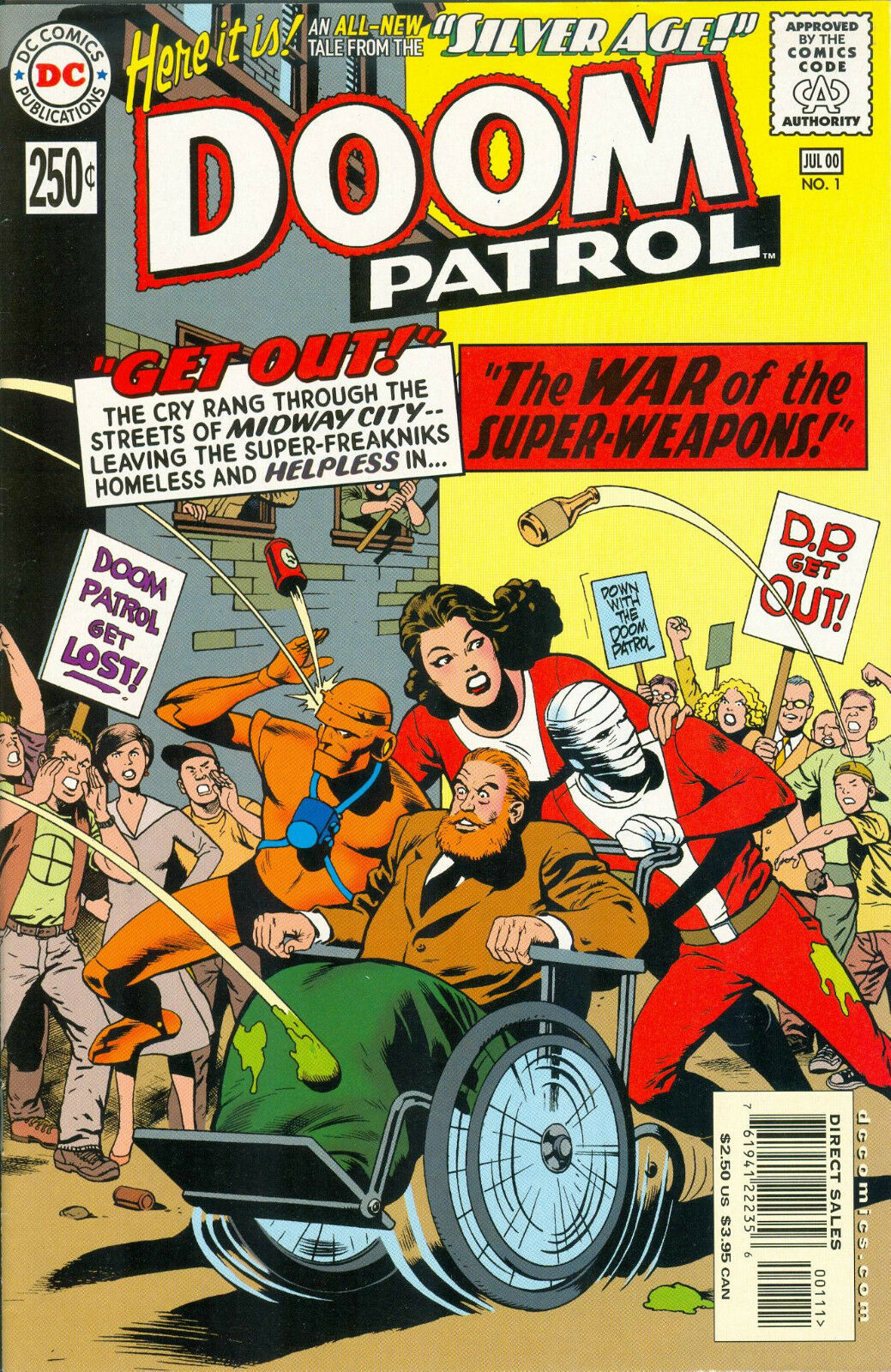 Silver Age Doom Patrol 1 Dc Comics July 2000 250 Cover