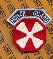 US 8th Army Korea 9th Corps HONOR GUARD patch tab set