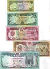 LOT SET SERIE 5 BILLETS Afghanistan Afghanis UNC NEUF