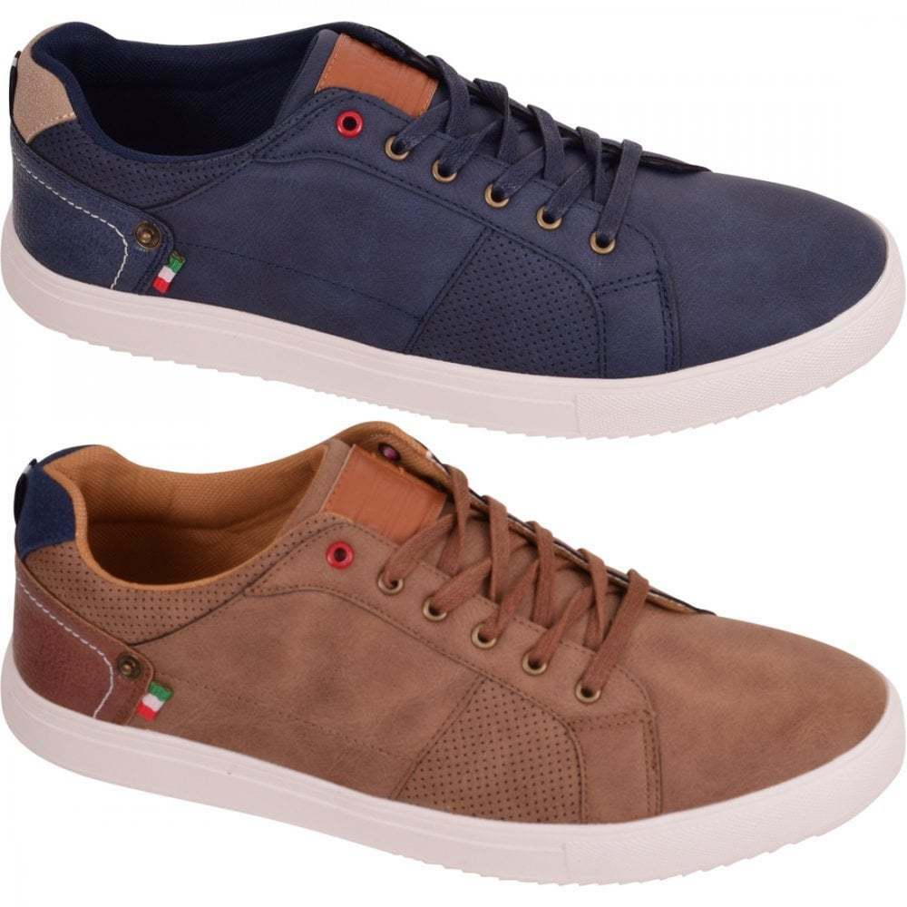 Mens D555 Contrast Cupsole Low Top Trainers shoes Footwear shoes Size 12 13 14 15