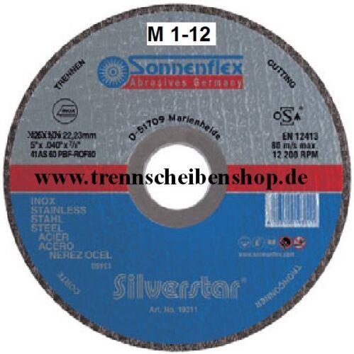 Edelstahl Inox 1 x Sonnenflex Trennscheibe 115 x 1,6 x 22,23 mm F41 Stahl