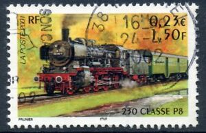 Discipliné Stamp / Timbre France Oblitere N° 3414 Chemin De Fer / Train / 230 Classe P8 Performance Fiable