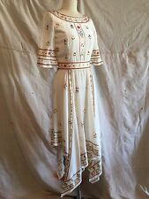 $26K CHANEL RARE Paris Bombay Collection Hand Painted Dress size 36
