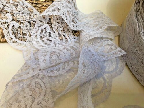 """Nottingham 6cm//2.25/"""" Silver Grey Flat Lace Trim Sewing//Crafts *FREE 1ST CLASS*"""