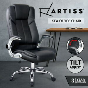 Artiss Gaming Office Chair Executive Computer Chairs PU Leather Seating Black