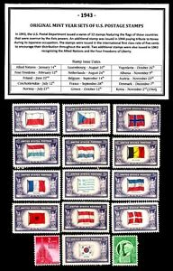 1943-COMPLETE-YEAR-SET-OF-MINT-MNH-VINTAGE-U-S-POSTAGE-STAMPS