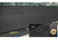 Black 4' 5' 6' 8' Fence Windscreen Privacy Screen Shade Cover Mesh Cloth Outdoor