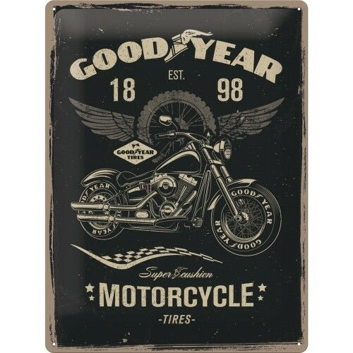 Blechschild 30x40cm Good Year Motorcycles