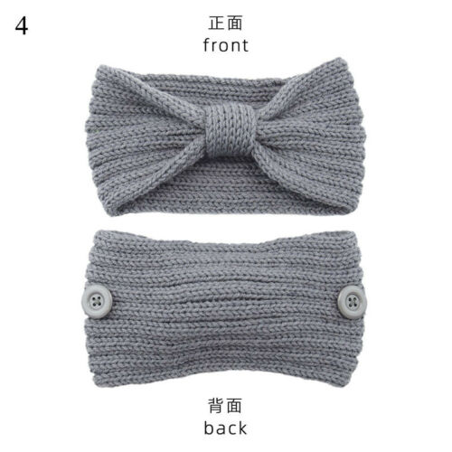 Women Winter Headband Crochet Knotted Warm Ear Hairband Turban Hair Accessories
