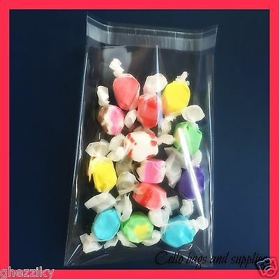 Soap Candle 100 Pcs 4x6 Clear Resealable Cello // Cellophane Bags Good for Bakery Cookie