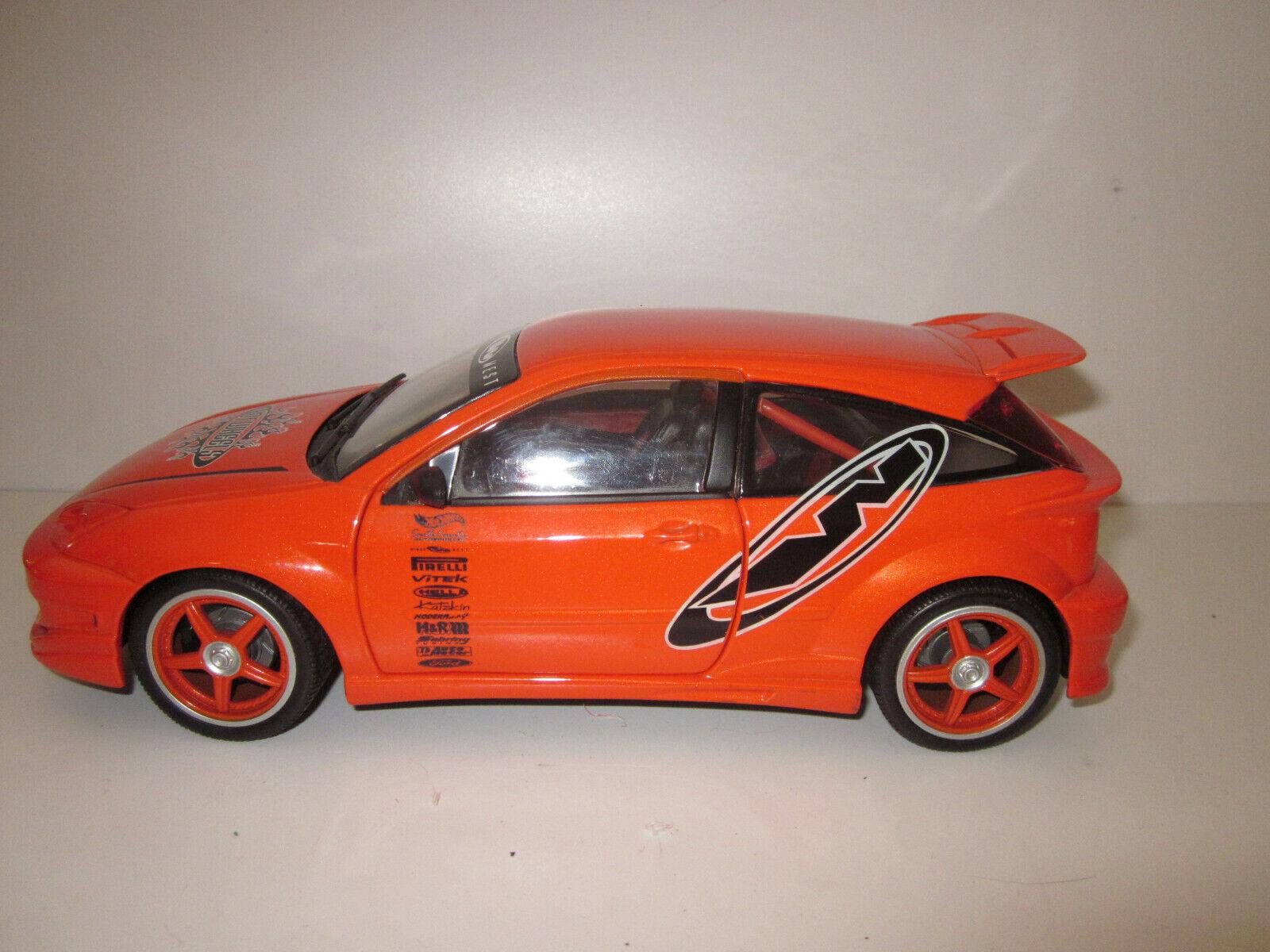 Felices compras RARE FORD FOCUS ZX3 naranja TUNING par HOTWHEELS REF REF REF 29229 au 1 18  descuento de ventas en línea