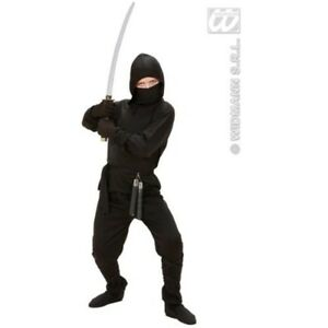 Children-039-s-Ninja-Costume-Small-5-7-Yrs-128cm-For-Oriental-Chinese-Fancy-Dress