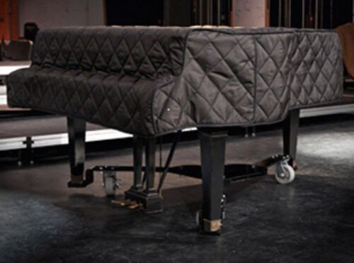 """August Forster Quilted Grand Piano Cover For 5/'8/"""" Model 170 Black"""