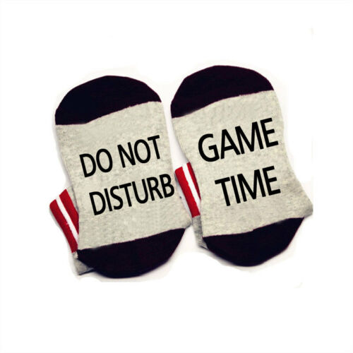 Do not disturb game time Words on Socks cotton comfortable unisex Men Women Sock