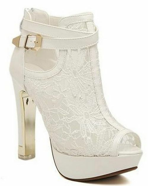Women's Platform Pumps Lace High Heels Ladies Ladies Ladies Peep Toe Sandals Solid Dress shoes 9444bb
